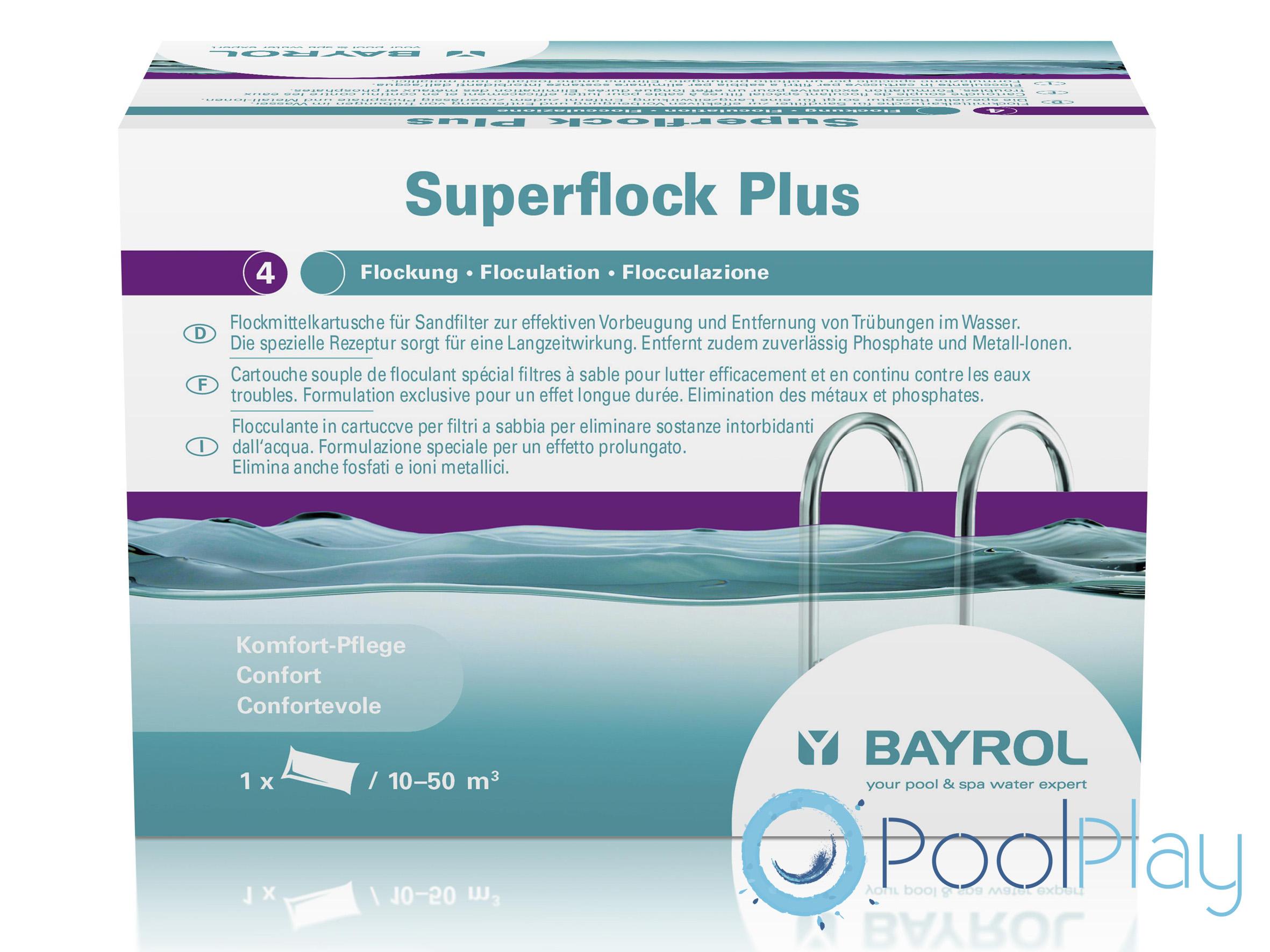 Promoción floculante en cartucho Superflock Plus de Bayrol
